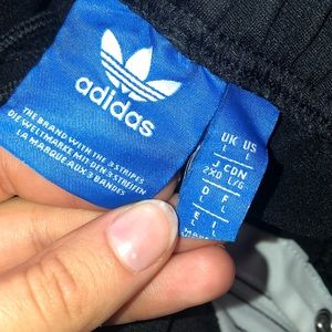 adidas Pants - 3 Strips Adidas Buttoned Track Pants